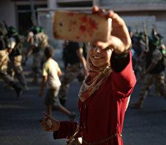 Военный парад, организованный движением ХАМАС