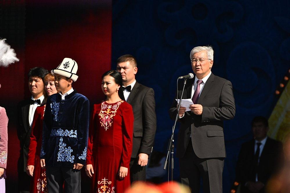 Бишкек мэри  Кубанычбек Кулматов майрамдык сөз  сүйлөдү