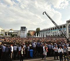 Зрители на концерте в площади Ала-Тоо посвященный ко дню Независимости КР
