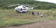 Спасатели на вертолете эвакуировали людей из затопленных районов Приморья