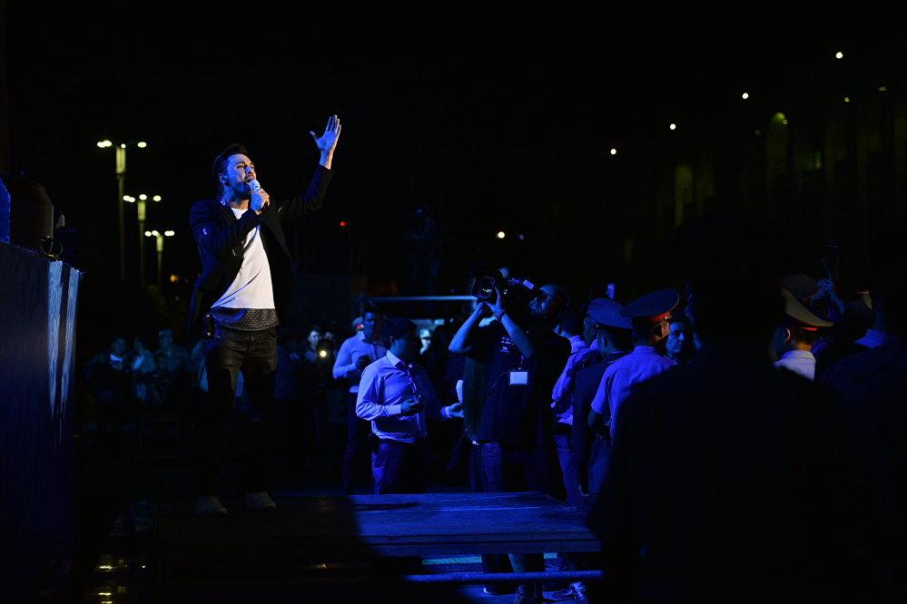Дима Билан на главной сцене Бишкека