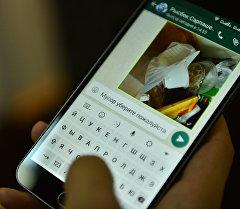 WhatsApp аркылуу таштанды тууралуу кабарлап жаткан колдонуучу. Архив
