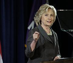 АКШнын президенттигине талапкерлердин бири Хиллари Клинтон. Архив