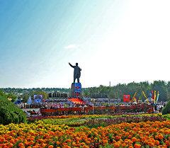 Празднование дня Независимости Кыргызстана в городе Ош
