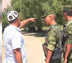 Дружинники в Баткене проводят дежурство вместе с пограничниками