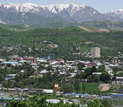 Вид на город Душанбе, Таджикистан.