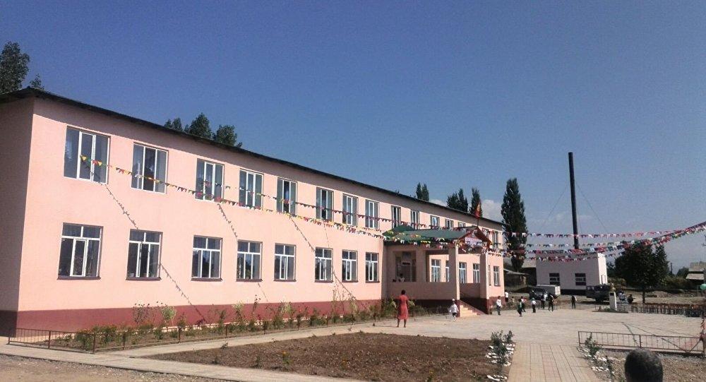 Жалал-Абаддын Базар-Коргон районунда ачылган жаңы мектеп.