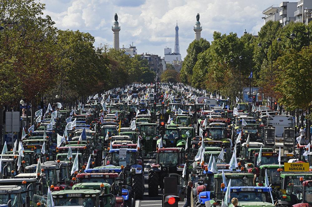 Акции протеста фермеров в Франции
