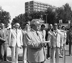 Архивное фото первого секретаря Центрального комитета Коммунистической партии Киргизской ССР Турдакуна Усубалиева