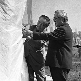 Т.У.Усубалиев на открытии памятника В.И.Ленину на ВДНХ. Архивное фото