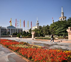 Вид на здание мэрии города Бишкек. Архивное фото