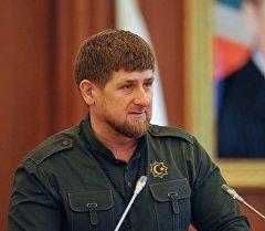 Чечен республикасынын башчысынын милдетин аткаруучу Рамзан Кадыров. Архив