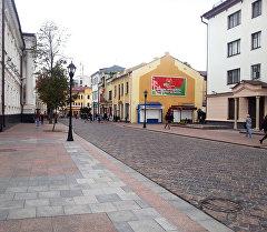 Улица города Гродно где прошло заседание Евразийского межправительственного совета.