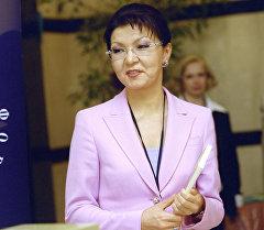 Казакстандын президенти Нурсултан Назарбаевтин кызы Дарига Назарбаева. Архив