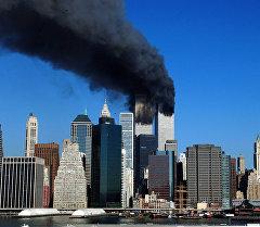 11 сентябрда Нью-Йорк шаарында жанкечти тарабынан кыйраган имараттар