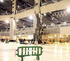 Падение крана в мечети Аль-Харам в Мекке. Архивное фото