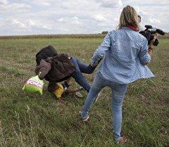 Бывший оператор Петру Лазло из венгерского телеканал N1TV. Архивное фото