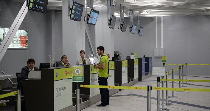 Стойки регистрации международных рейсов в аэропорту Новосибирска. Архивное фото