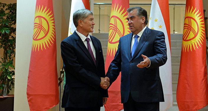 Атамбаев и президент Таджикистана Эмомали Рахмон