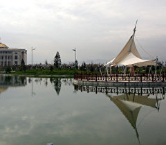 Вид на здания в Душанбе