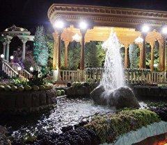 Кадры вечерней прогулки глав государств-членов ОДКБ в одном из парков Душанбе.
