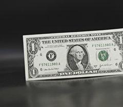 Купюра достоинством в 1 доллар США. Архивное фото