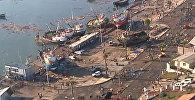 Последствия землетрясения в Чили: корабли на берегу и реки вместо улиц