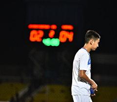 Кыргызстандын футбол боюнча жаштар командасы (U-19) оюнчусу. Архив