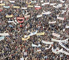 Антивоенная манифестация в Москве