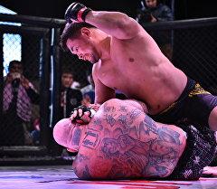 Супербой за звание чемпиона MMA Jash Kuch Fighting Championship завершился в пользу кыргызстанского спортсмена Замирбека Сыргабаева. Архивное фото