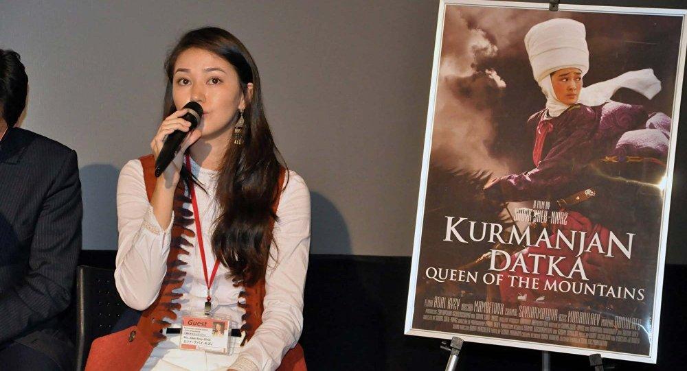 Архивное фото кыргызстанской актрисы Элины Абай кызы. Архивное фото