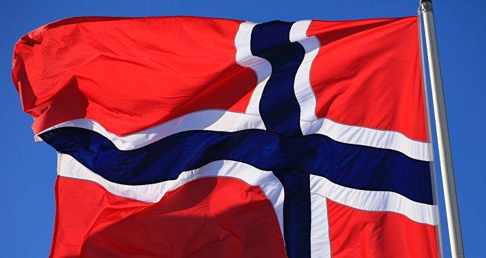 Флаг Норвегии. Архивное фото