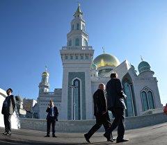 Московская соборная мечеть открылась после реставрации в Москве.
