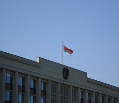 Флаг республики Беларусь. Архивное фото