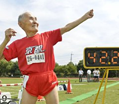 Японский долгожитель Хидекичи Миядзаки на 106-м году жизни установил рекорд — пробежал стометровку за 42,2 секунды.
