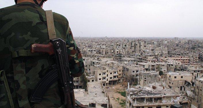 Сириянын аскер кызматкери. Архив