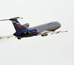 Аэрофлот авиакомпаниясынын Ту-154м самолету. Архивдик сүрөт