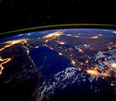 Кадры с космоса на реку Нил