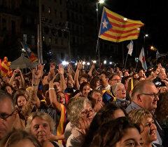 Выборы в Каталонии: ликование в Барселоне и акция протеста в Мадриде.