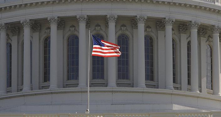 Флаг США в Вашингтоне. Архивное фото