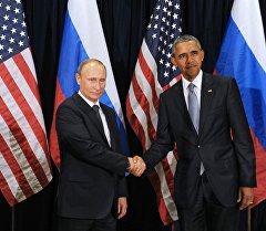 Владимир Путин менен Барак Обама. Архив