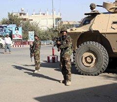 Афган аскерлери Кундуз шаарында. Архив