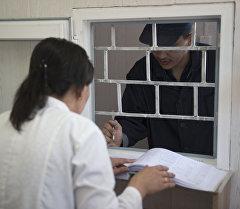 Заключенный в одном из колоний Бишкека. Архивное фото
