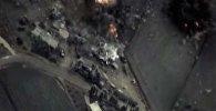 Минобороны РФ опубликовало видео бомбежки штабов ИГ в Сирии