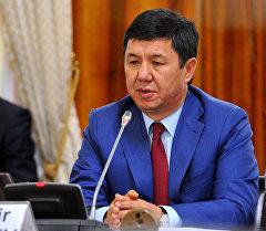 Темир Сариев Европа парламентинин өкүлдөрүн кабыл алуу убагында.