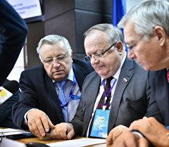 Международные наблюдатели, следившие за прошедшими парламентскими выборами. Архивное фото