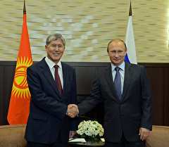 Президент РФ В.Путин встретился с президентом Кыргызстана А.Атамбаевым в Сочи