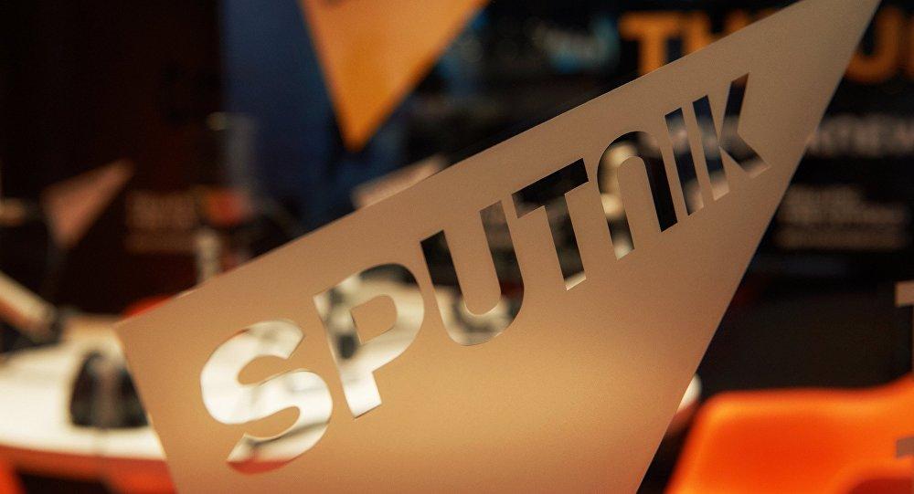 Sputnik маалымат агенттиги жана радиосу логотиби