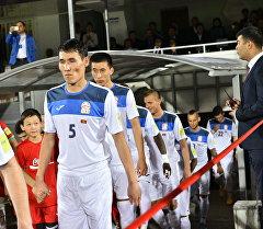 Кыргызстандын футбол боюняа курама командасынын оюнчулары. Архив