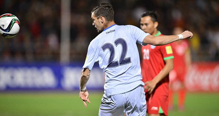 Первая часть футбольного матча прошла под активным давлением кыргызской сборной